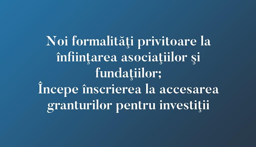 Începe înscrierea la accesarea granturilor pentru investiţii
